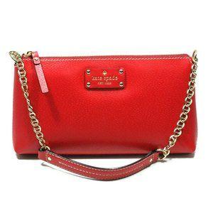 NWT Kate Spade Wellesley Byrd Red Shoulder Bag